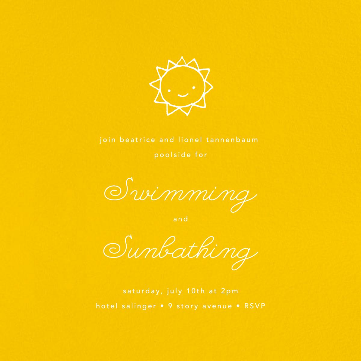Mustard (Square) - Paperless Post - Summer entertaining