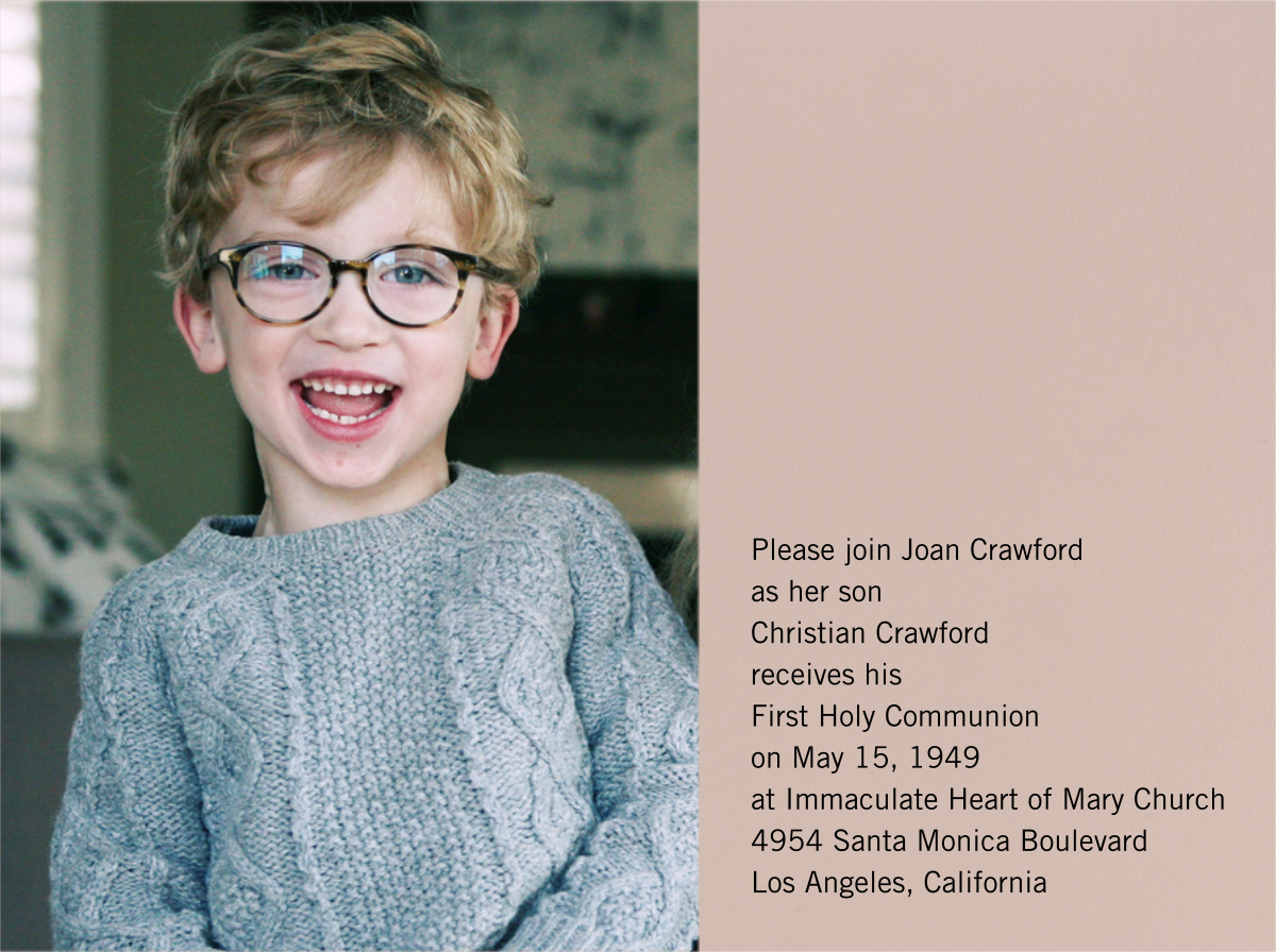 Photo Spread - Rose - Paperless Post - First communion