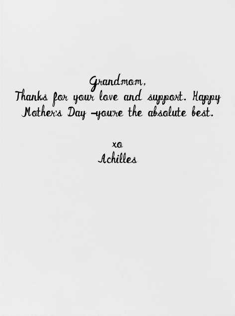Grandmommy's House - Mr. Boddington's Studio - Mother's Day - card back