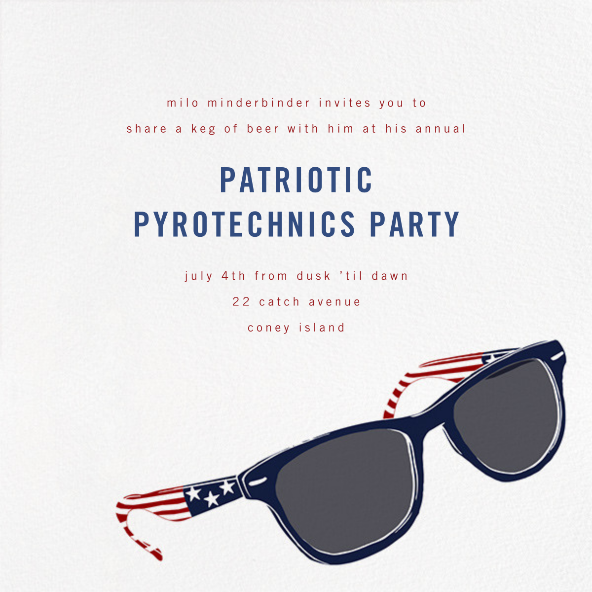American Wayfarers - Paperless Post - 4th of July