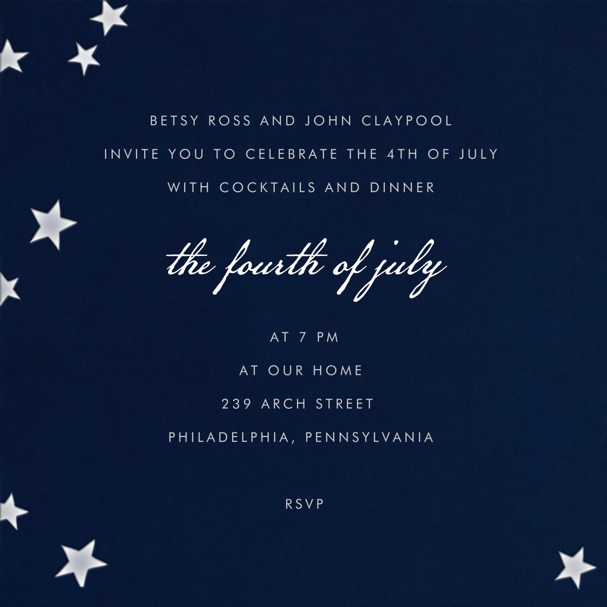 Stars Navy - Paperless Post