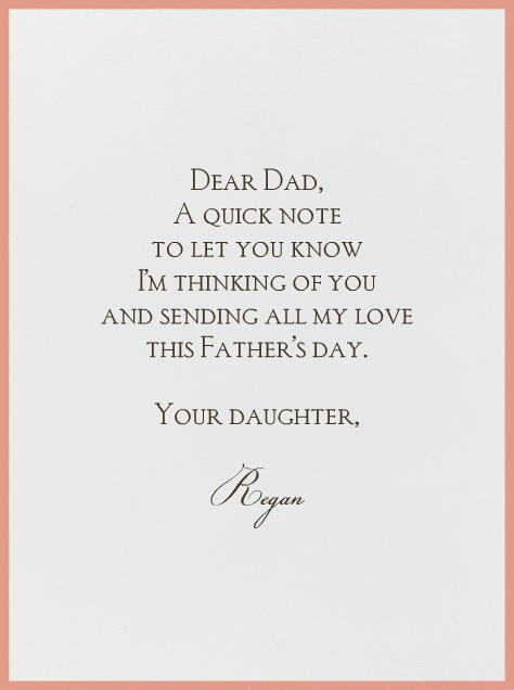 I'll Catch a Ride with Father - Mr. Boddington's Studio - Father's Day - card back