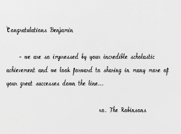 Just Ten More Miles - Mr. Boddington's Studio - Congratulations - card back