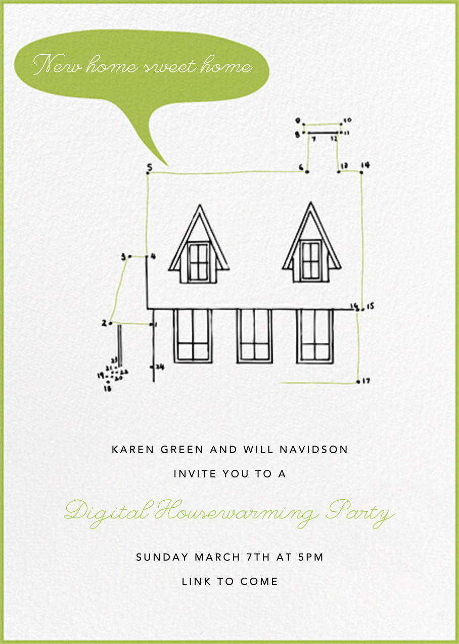 Connect The Dots - Paperless Post - Housewarming