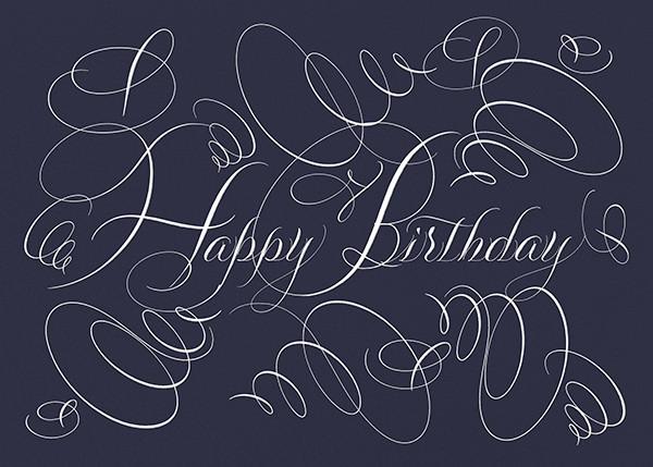 Happy Birthday - Navy - Bernard Maisner - Birthday