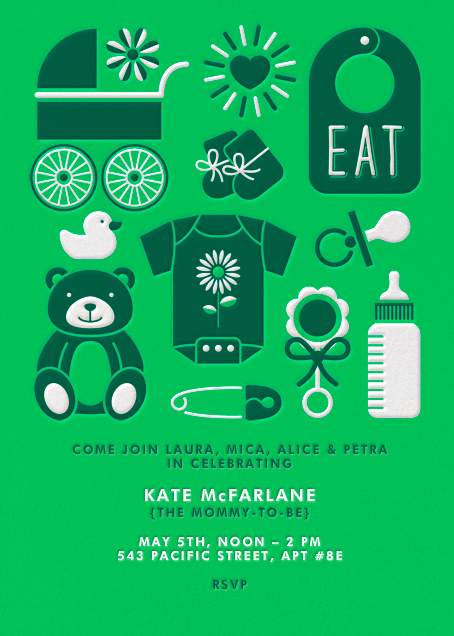 Baby Gear - Green - Paperless Post - Baby shower