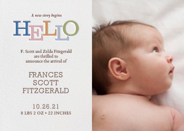 Storybook Hello - Paperless Post - Birth