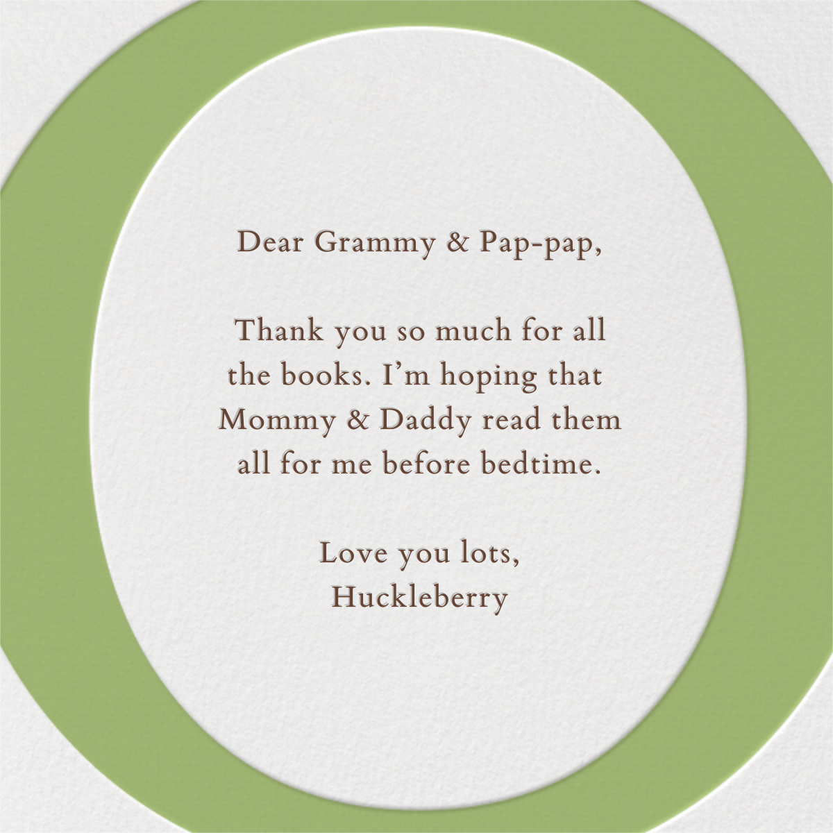 Storybook Thank You - Paperless Post - Alicia's Test - card back