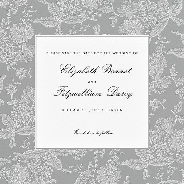 Hydrangea Lace I (Save The Date) - Gray - Oscar de la Renta