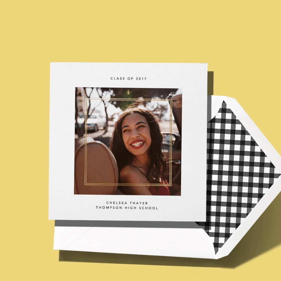 Printed graduation announcements