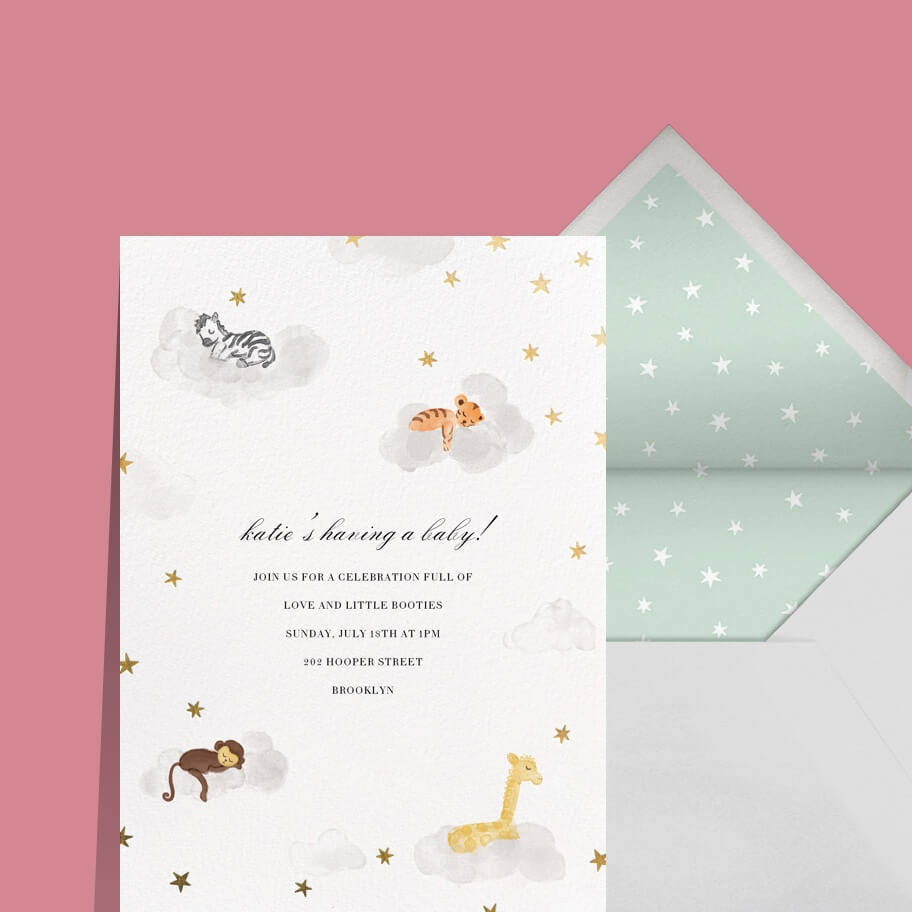 Online invitations and cards Custom paper designs Paperless Post – Make a Birth Announcement Online Free