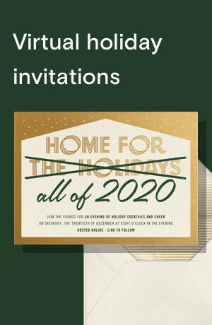 Virtual holiday invitations