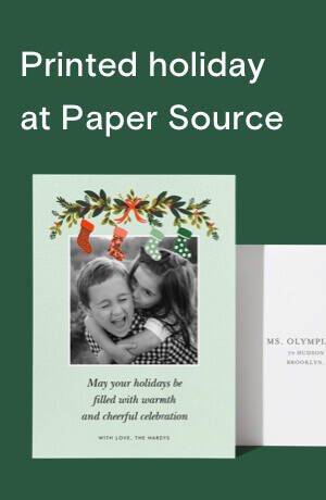 Printed holiday at Paper Source