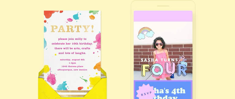 Online Kids Birthday Invitations Send Online Instantly Rsvp Tracking