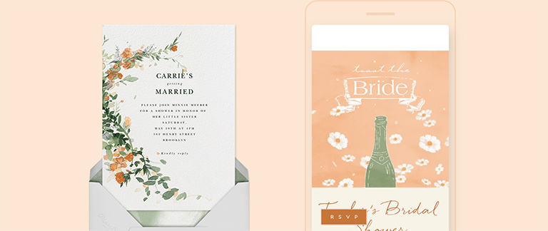 Bridal Shower Invitations Send Online Instantly Rsvp Tracking