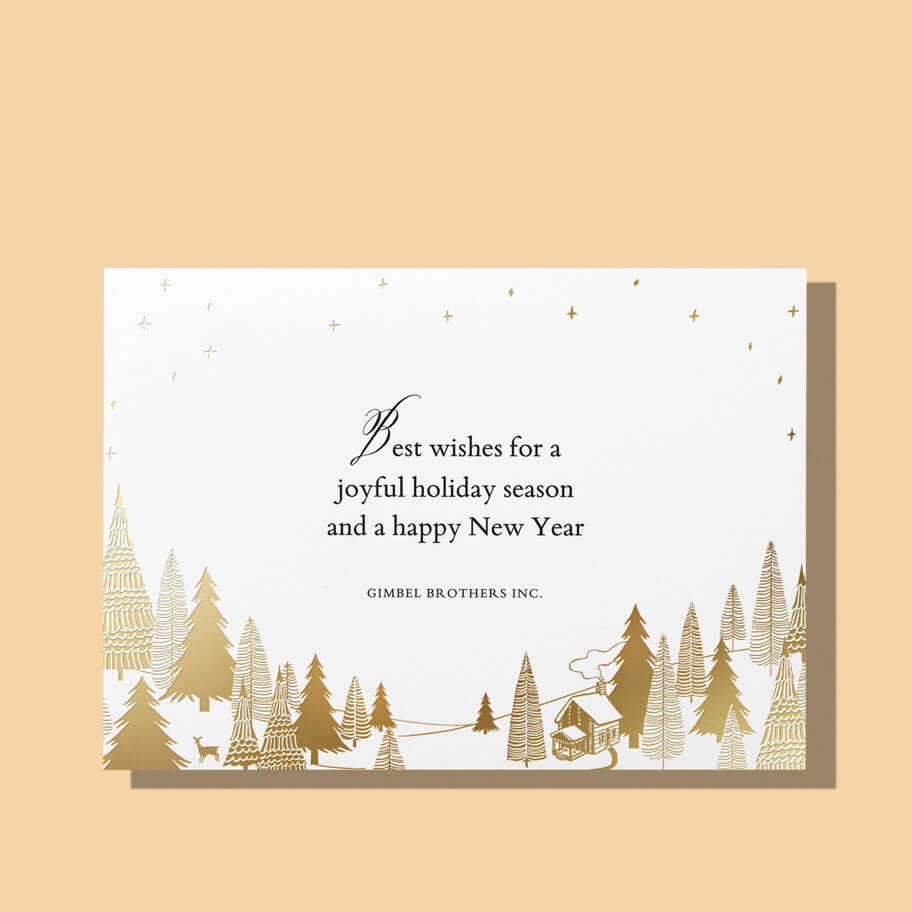 Printed business holiday cards