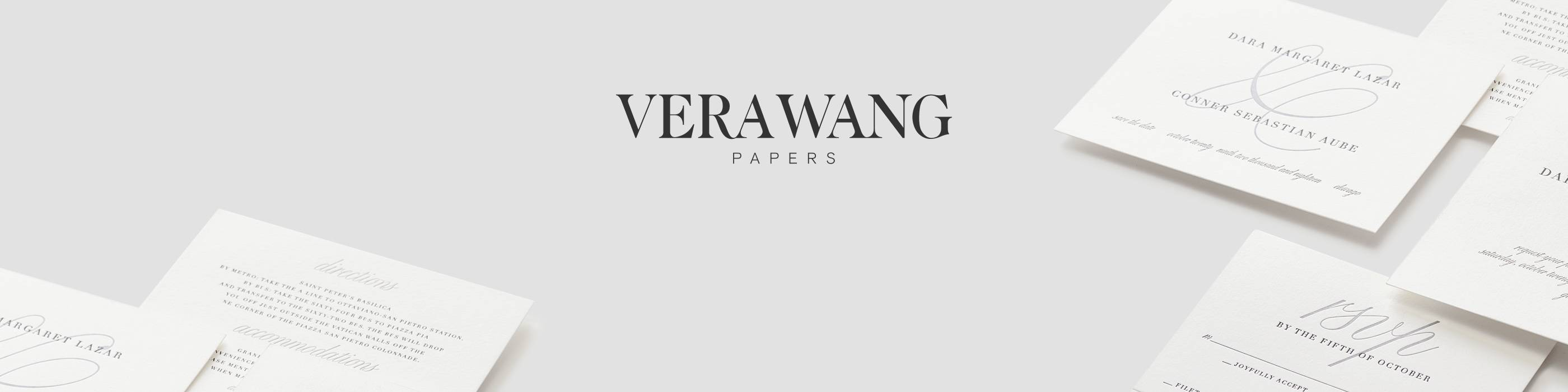 Vera Wang invitations and stationery - online at Paperless Post