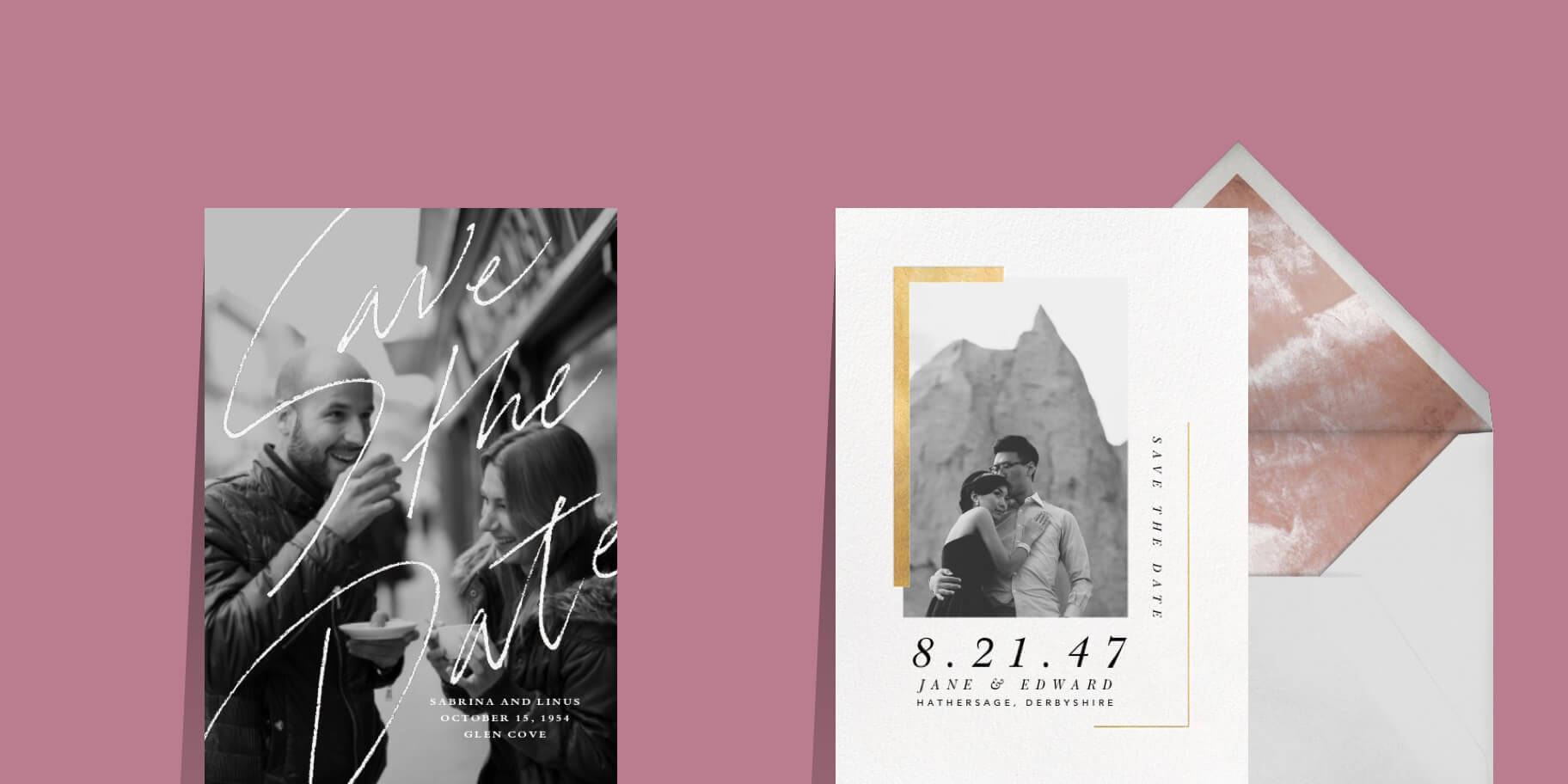 Online wedding save the dates