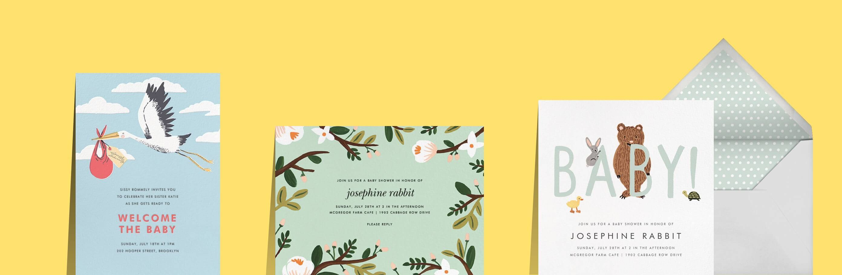 Online baby shower invitations